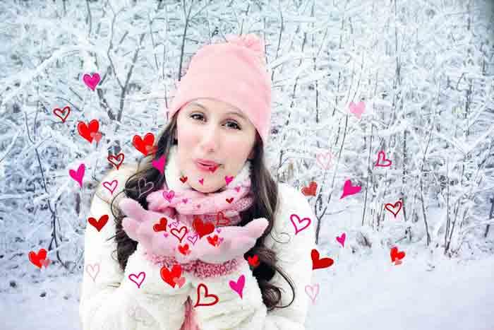 Девушка, февраль, зима