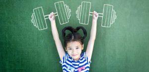 девочка, ребёнок, спорт, гантели