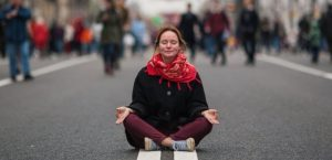 женщина, медитация