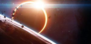 космос, затмение