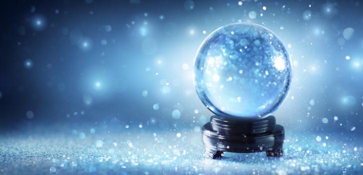 Снежный шар, гадание, зима