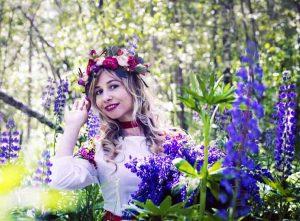 девушка, природа, лето