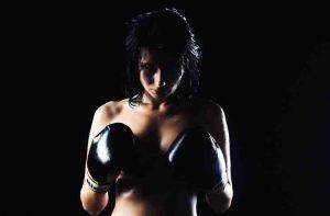 девушка, спорт, бокс