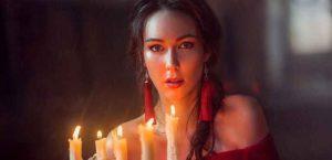 гадания, гадание, девушка, свечи