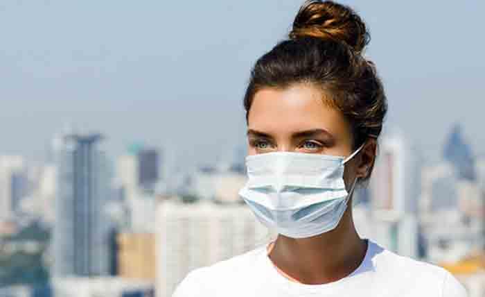 девушка в маске, вирус