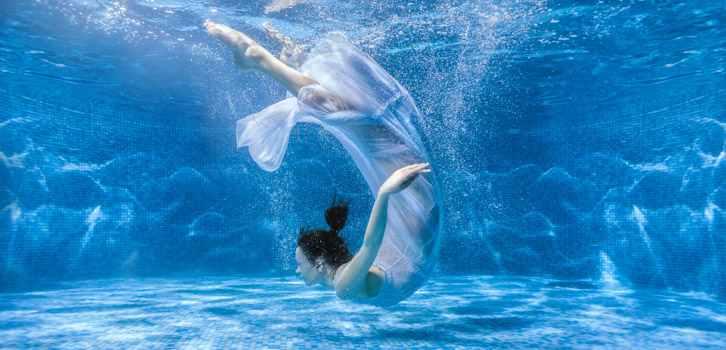 женщина, вода, купание