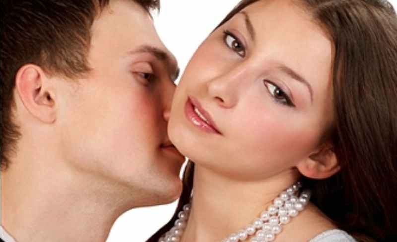 аромат, запах, нюхает, девушка, мужчина, любовь